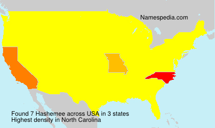 Surname Hashemee in USA