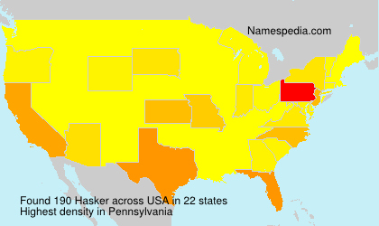 Surname Hasker in USA