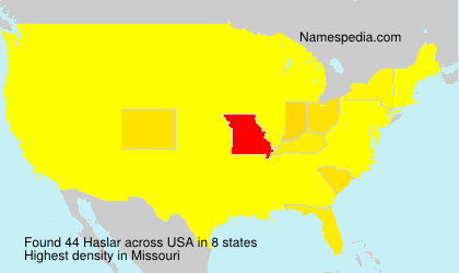 Surname Haslar in USA