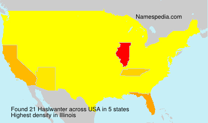 Surname Haslwanter in USA