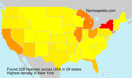 Surname Hasman in USA