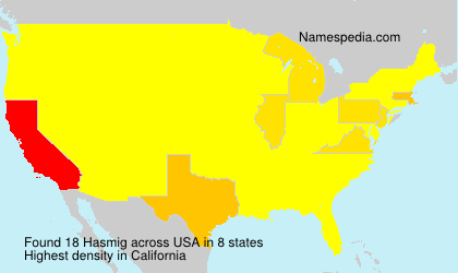 Surname Hasmig in USA