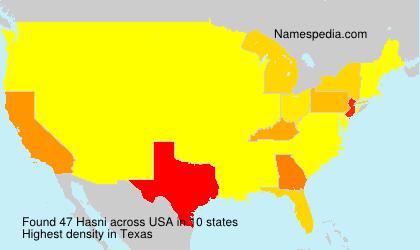 Familiennamen Hasni - USA