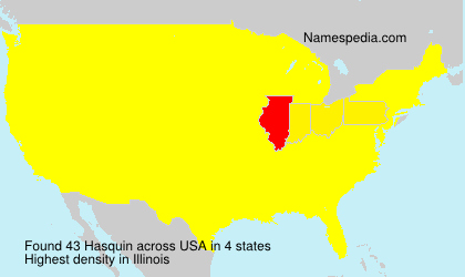 Surname Hasquin in USA