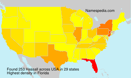 Surname Hassall in USA