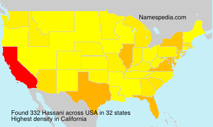 Surname Hassani in USA