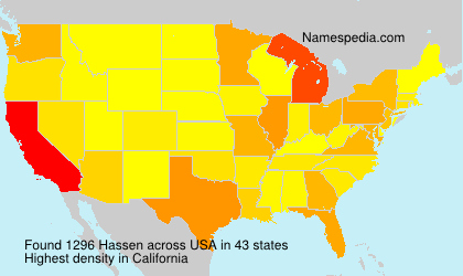 Surname Hassen in USA