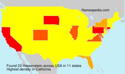 Surname Hassenstein in USA