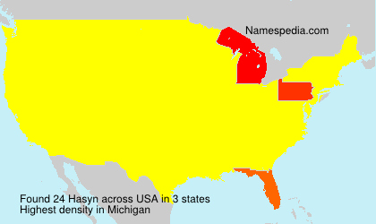 Surname Hasyn in USA