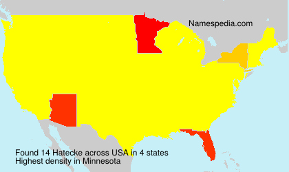 Surname Hatecke in USA
