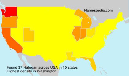 Familiennamen Hategan - USA