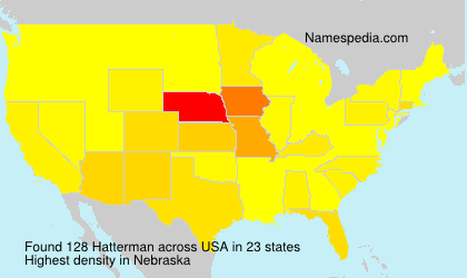 Surname Hatterman in USA