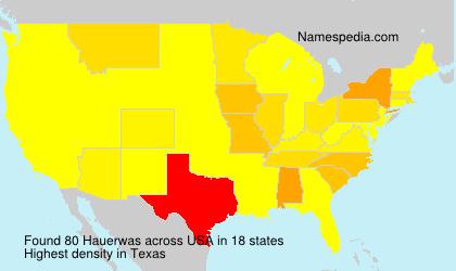 Familiennamen Hauerwas - USA