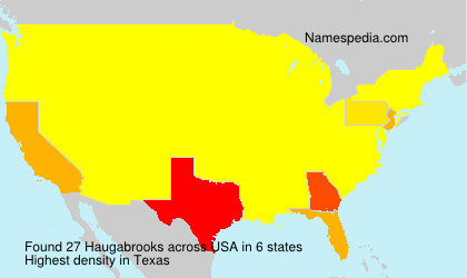 Surname Haugabrooks in USA