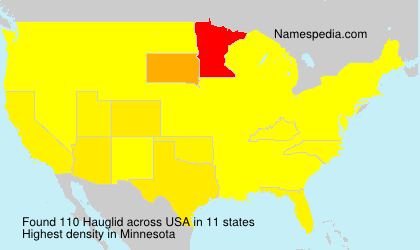 Surname Hauglid in USA