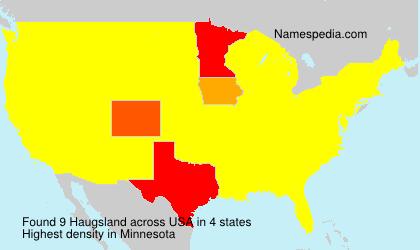 Familiennamen Haugsland - USA