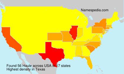 Familiennamen Haule - USA