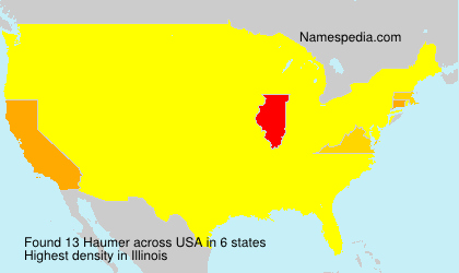 Surname Haumer in USA