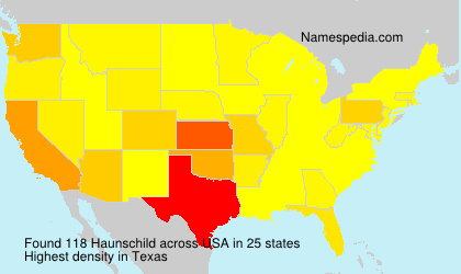 Surname Haunschild in USA