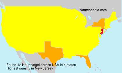 Surname Hauptvogel in USA