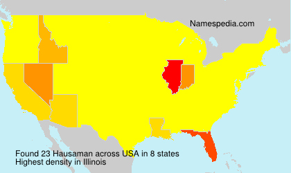 Surname Hausaman in USA