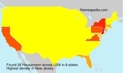 Surname Hausamann in USA