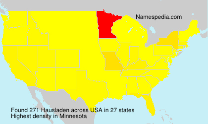 Surname Hausladen in USA