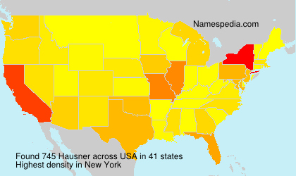 Surname Hausner in USA