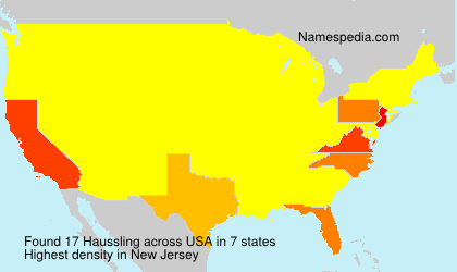 Surname Haussling in USA