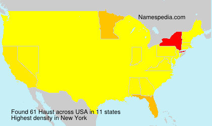 Surname Haust in USA