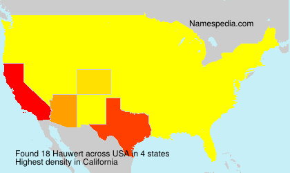 Surname Hauwert in USA