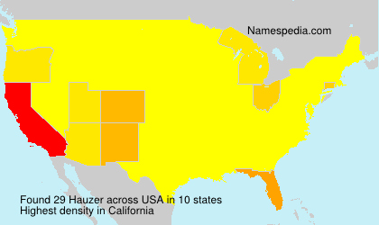 Surname Hauzer in USA