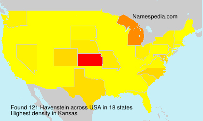 Surname Havenstein in USA