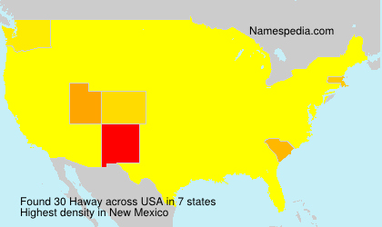 Surname Haway in USA