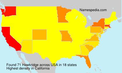 Surname Hawkridge in USA