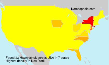 Familiennamen Hawryschuk - USA