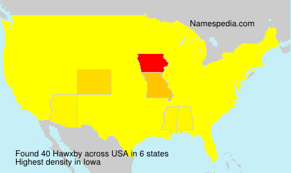 Surname Hawxby in USA