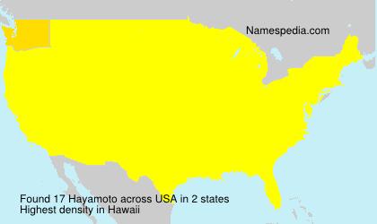 Familiennamen Hayamoto - USA