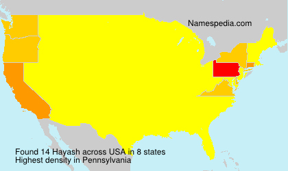 Surname Hayash in USA
