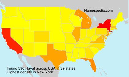 Surname Hayat in USA
