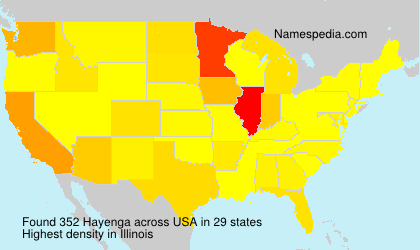 Surname Hayenga in USA