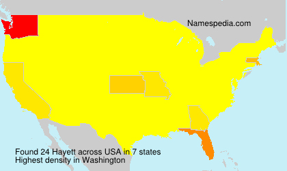 Surname Hayett in USA