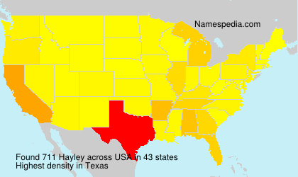 Surname Hayley in USA