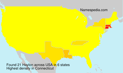 Surname Haylon in USA