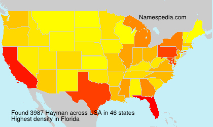 Surname Hayman in USA