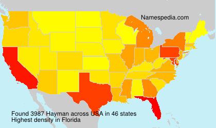 Familiennamen Hayman - USA