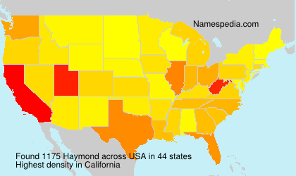 Surname Haymond in USA