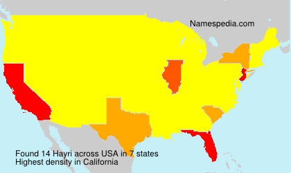 Surname Hayri in USA