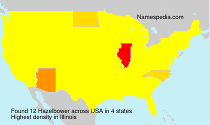 Surname Hazelbower in USA