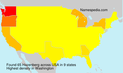 Surname Hazenberg in USA